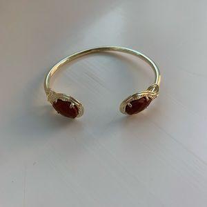 Kendra Scott Gold Bracelet with Brown Stones